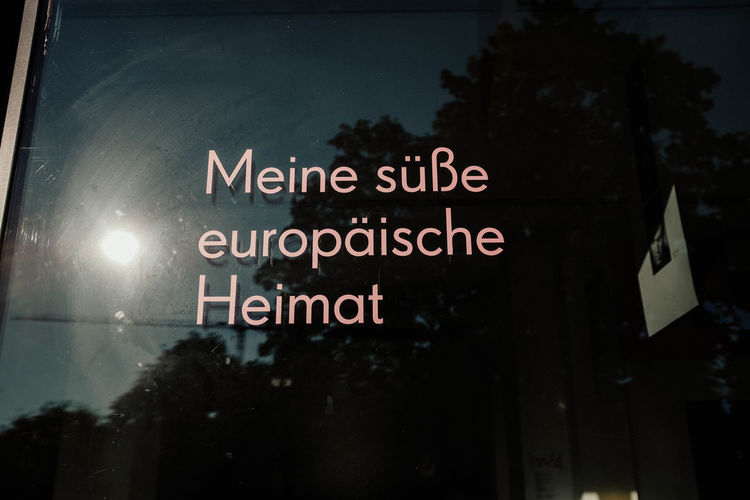 Meine Süße Europäische Heimat Europe European Union European  European Home Europa Europaliebe Europe Love Brexit Text Western Script Communication Sign Information No People Tree Night Information Sign Architecture Capital Letter City Outdoors Illuminated Plant Built Structure Nature Building Exterior Focus On Foreground Script Message