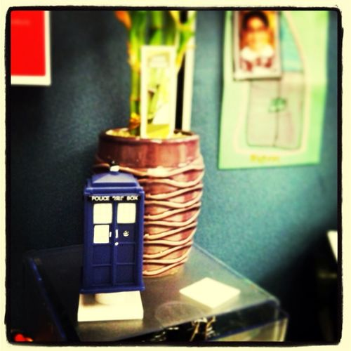 Why am I so awesome????? #Tardis on my desk