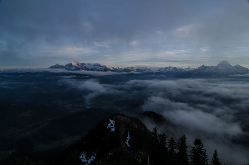 Berchtesgaden Berchtesgaden Alps Cloud - Sky Clouds And Sky Idyllic Mountains No People Outdoors Peak Rauher Kopf Scenics Sky Sunset Tranquil Scene Tranquility Untersberg