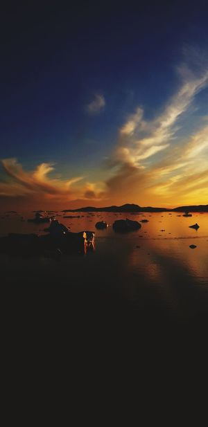 just happy to witness this sunset. Innaarsuit Nature colour of life Innaarsuit Nature Perfectweather Summer Greenland Travel Destinations Iceberg Iceberg Reflections Iceberg - Ice Formation Iceberg Melting Colourful Nature Water Sea Sunset Horizon Summer Low Tide Astronomy Romantic Sky Moody Sky Atmospheric Mood Dramatic Sky Seascape Wave Sky Only Cloudscape Atmosphere