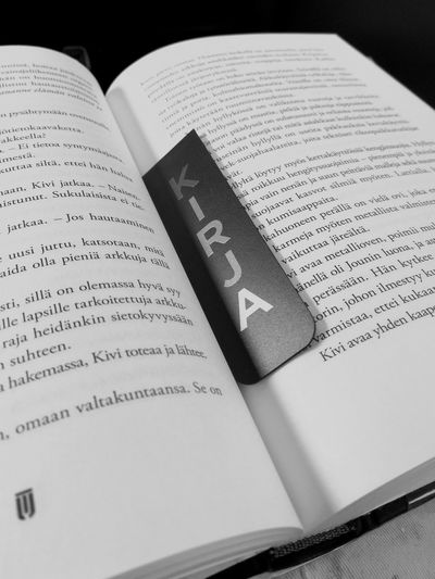 Book Indoors  Close-up No People Bookmark Kirja Litterature Blackandwhite Text Printed Sheets Paper