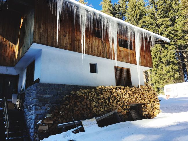 Icicles Building Exterior Architecture Outdoors Winter White Color Snow Skiing 😚