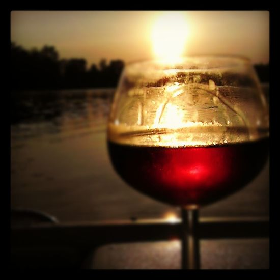 Alcohol Close-up Drink Drinking Glass Focus On Foreground Food And Drink Glass Glass - Material Red Refreshment Relaxing Shiny Shotonandroid Still Life Sunset Water Wine Wineglass