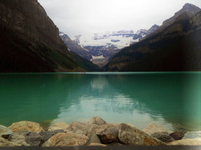 Color Palette Mountain Water Lake Beauty In Nature Non-urban Scene Canada Canandian Lake
