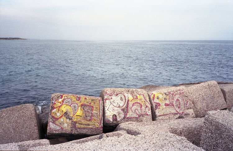 35mm 35mm Film Analogue Photography Coastline Color Film Film Photography Horizon Over Water Outdoors Sea Seascape Sign Water Writings