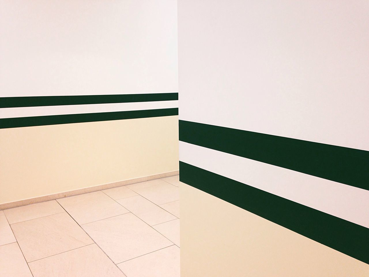 Architectural Detail Of Wall In Corridor