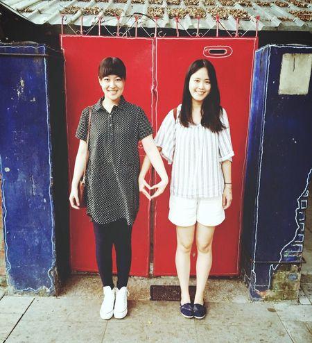 藍曬圖 Tainan Heart Friends Friendship Girl Love Date Summer Two Is Better Than One