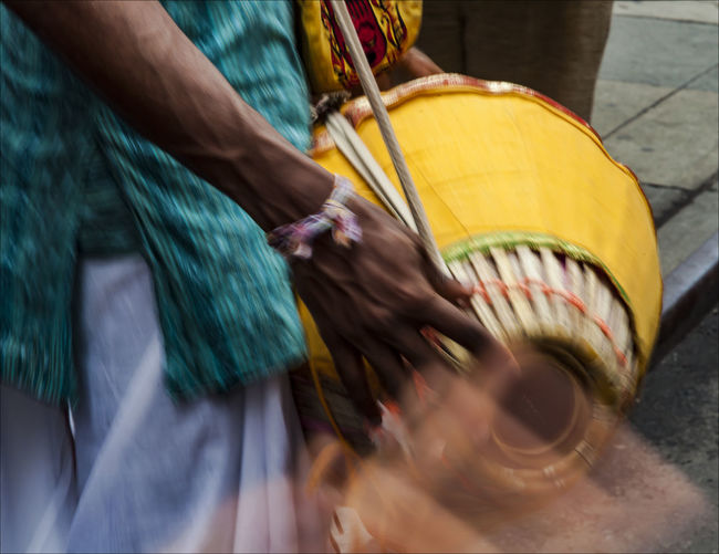 Close-up of traditional drum
