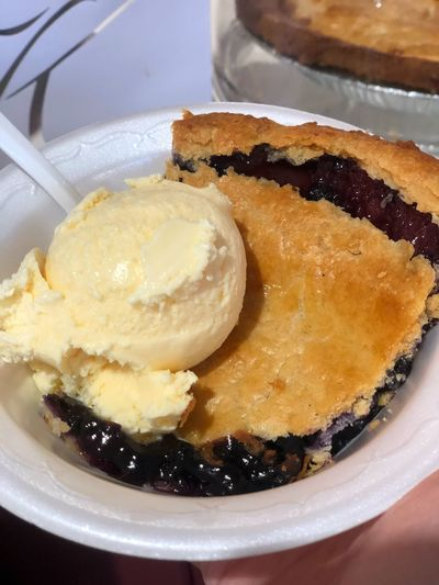 Vanilla Ice Cream Pie Blueberry Food And Drink Food Ready-to-eat Freshness Sweet Food Indulgence Close-up Sweet