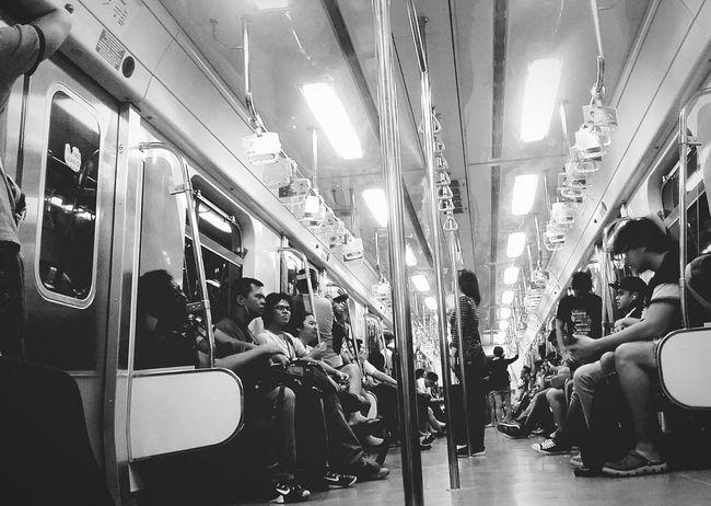 Katipunan station 🚇🚈🚎 Enjoying Life Train Station Train People EyeEm Black And White Landscape Lifestyle