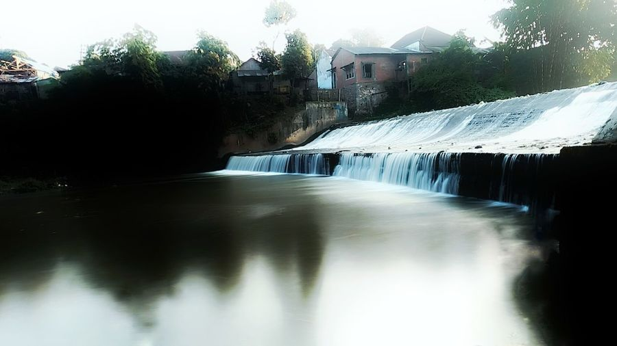 Water Tree Waterfall Pixelated Sky Architecture Built Structure Building Exterior Watermill Mill Dam Water Wheel Irrigation Equipment Agricultural Equipment Water Pump Flowing Water Water Slide