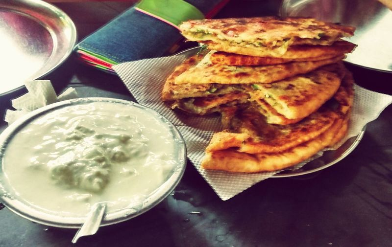 Stuffed Paratha Alooparathas Paratha Yummy♡ Delicious Eyeemfood Cheese Curds Mouthwatering Vegetarian Food Foodphotography