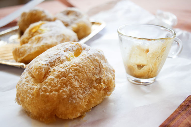 cream puffs of st joseph Cream Puff Baked Bignè Cream Day Food Food And Drink Plate Puff Snack St Joseph Still Life Sweet Food