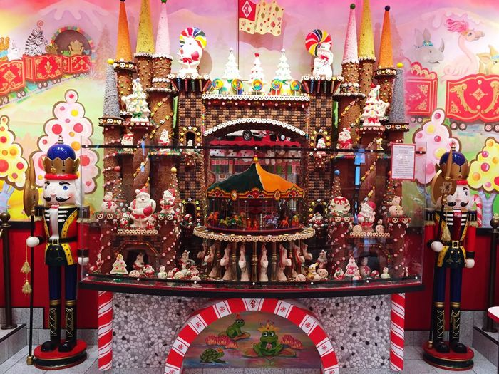 Chocolate Castle Sarris Candies Multi Colored No People Indoors  Christmastime