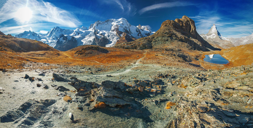 Swiss Alps in autumn. Alps Europe Landscape Mountain Nature No People Outdoors Panorama Swiss Alps Switzerland Travel