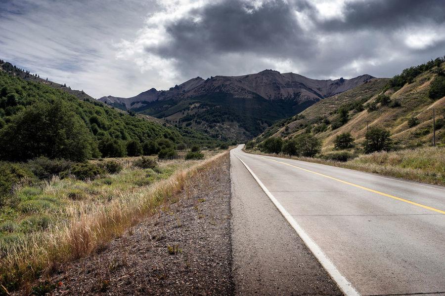 Carretera Austral #carreteraaustral Aysen Landscape Mountain Mountain Range Nature Outdoors Road Road Marking