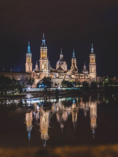 Cathedral Zaragoza SPAIN Church Gothic España Place Of Worship Night Illuminated Building Exterior Architecture Built Structure Travel Destinations Reflection Building Water City Tower Politics And Government Travel Government Clock Tower Tourism No People Nature Clock The Architect - 2018 EyeEm Awards The Street Photographer - 2018 EyeEm Awards The Traveler - 2018 EyeEm Awards EyeEmNewHere The Architect - 2018 EyeEm Awards