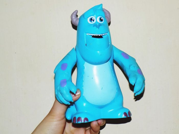 Little cat 😸 Monstersinc Boo Blue Color Blue Sky Toy Nikon Nikonphotography Coolpix So Cute Pretty Childhood Disney