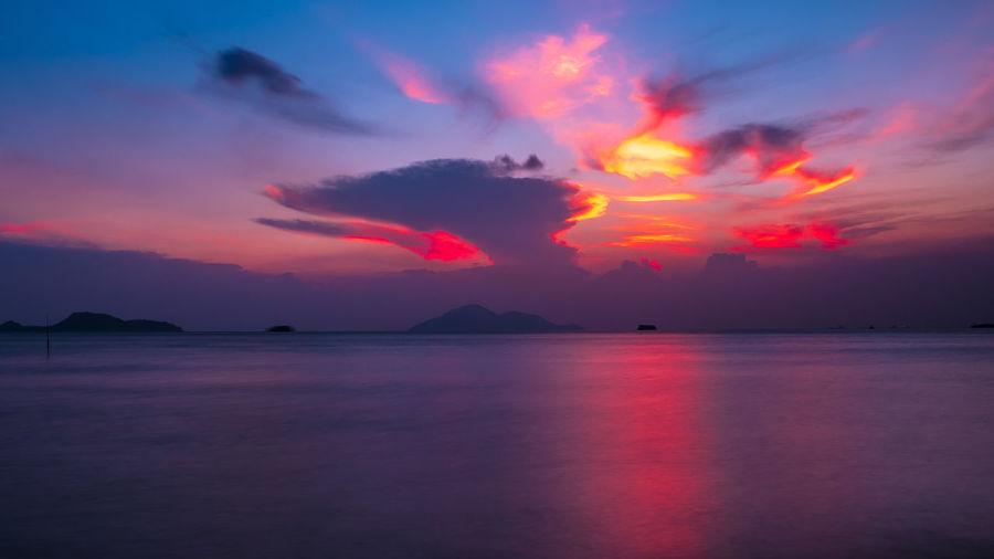 Water Sunset Sea Lava Sky