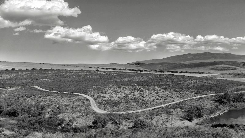 The Road To Nowhere Landscape Landscape_Collection Cloudscape Clouds Landscape_photography Blackandwhiteworld Blackandwhitephotography Bnw Bw Monochrome Bnwworld Blackandwhite Southafrica Africa Landscapes With WhiteWall