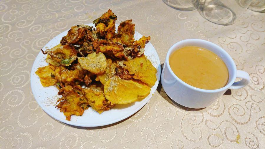Pakoda and tea Pakoda Tea Milk Tea Chaha Plate Table Tea - Hot Drink High Angle View Close-up Food And Drink Tea Cup Afternoon Tea