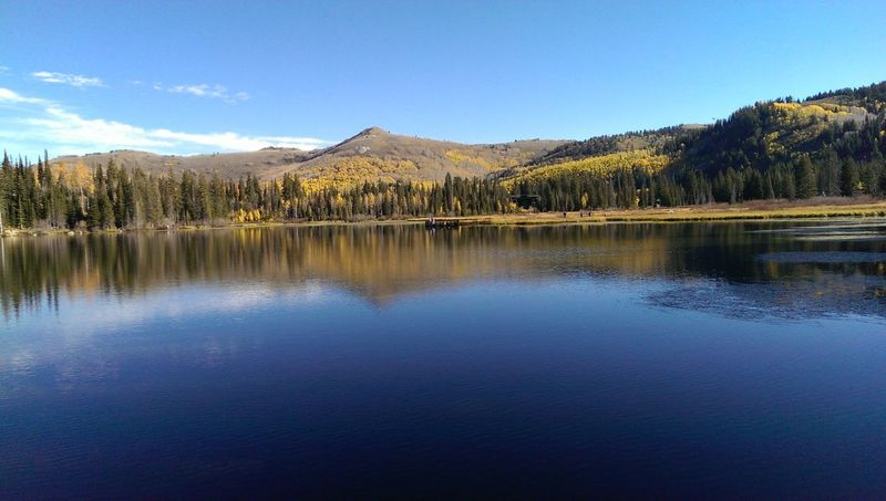 Water Tranquil Scene Blue Waterfront Mountain Reflection Beauty In Nature Lake Wasatch Mountains Silverlake Utah