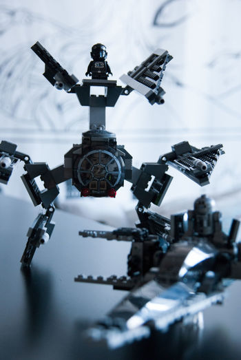 Technology No People Day Close-up Selective Focus Machinery Focus On Foreground Robot Black Color Metal Futuristic Connection Toys LEGO Legophotography Star Wars Play Black And Grey