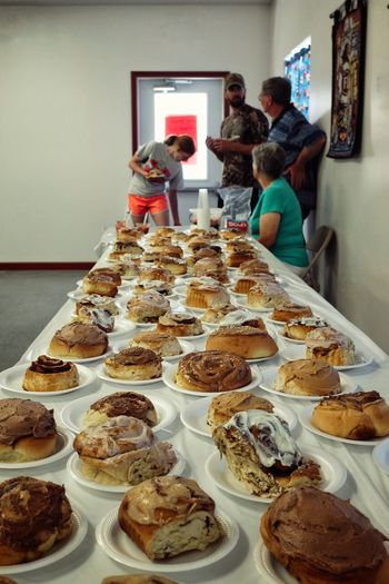 Village breakfast benefit for our local Library - June 19, 2016 Western, Nebraska A Day In The Life Abundance Arrangement Breakfast Camera Work Choice Cinnamon Rolls Dessert Feast Food Fujifilm Homemade Food Indulgence JUNKFOOD Large Group Of Objects Nebraska Photo Essay Photography Shoot Your Life Shooting Day Small Town Stories Small Town USA Story Of My Life Tradition Variation