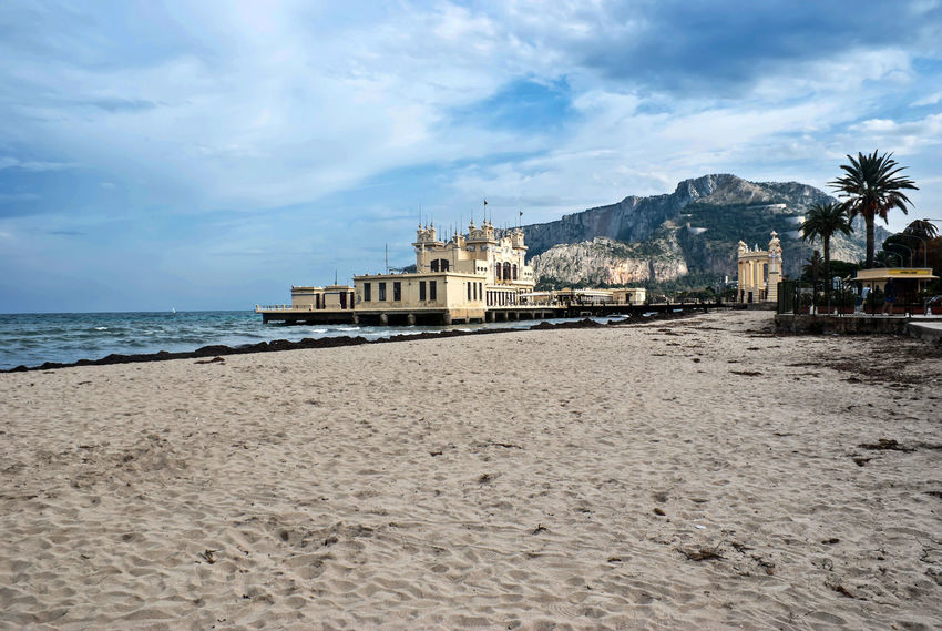 Mondello beach. Palermo. Sicily- Italy Beach Life Beach Photography Charleston Palermo Palermo, Italy Palermo❤️ Architecture Beach Beauty In Nature Building Exterior Built Structure Cloud - Sky Day Mondello Mondellobeach Mondello❤ Mountain Nature Outdoors Palermo Shooting Sand Sea Sea And Sky Sky Water
