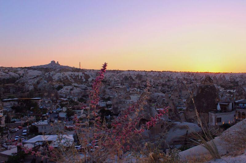 Uchisar Kalesi ... Castle Sunset Flower Cappadocia/Turkey Cappadocia