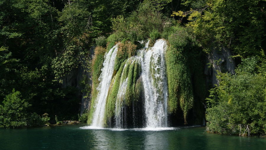 Plitvice lakes Beauty In Nature Day Green Color Long Exposure Motion Nature No People Outdoors Tree Water Waterfall Waterfront