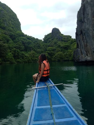 EyeEm Selects One Person Adult Outdoors Nature Nautical Vessel Travelgram Collectingmemories Traveler Traveling Mobilephotograpy Traveldestination Travel Photography Lovingnature Beautyofnature Relaxing Time WhenInElNido Palawan