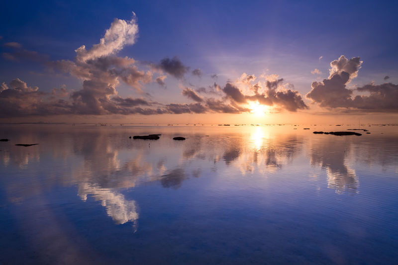 Sunrise at Teluk Mata Ikan Beach Batam Haryadi Haryadi B Sunrise Melancholic Landscapes Tranquility Landscape Beach Summer Horizon Over Water No People Lee Filters Sirui Manfrottotripod