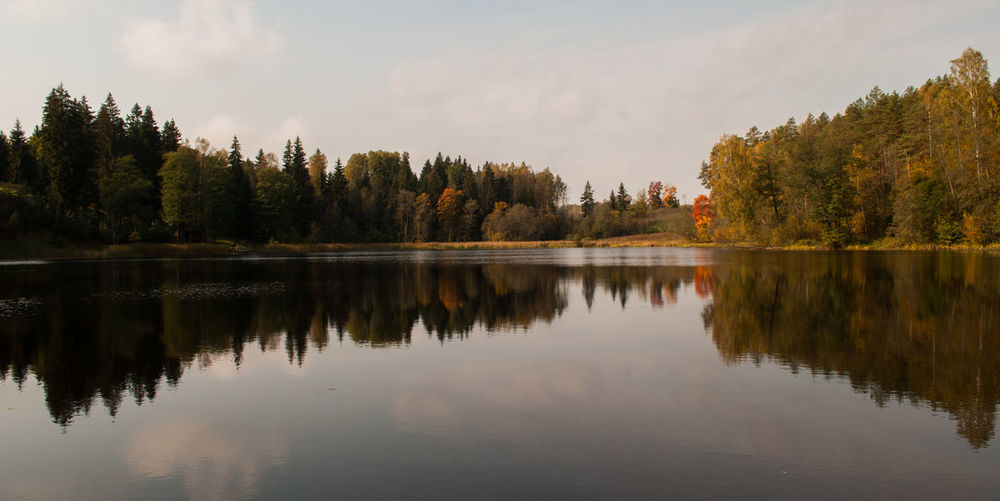 I found this small lake by going around another lake and we took a look at it. It was calm, peaceful and you can relax here all day and look at it by doing nothing at all. This what it's all about, the surrounding nature. 500 500px Autumn Cloud - Sky Day Enjoying Life Explore Forest Growth Lake Lake View Nature No People October Outdoors Reflection Reflection Reflection Lake Reflections Scenics Sky Sunset Travel Destinations Tree Water