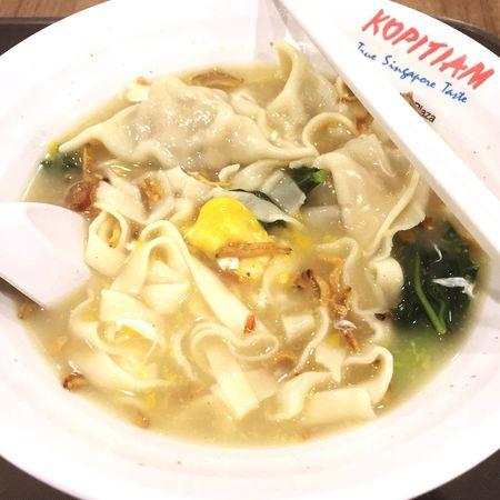 Had dumpling ban mian for lunch today! 😋 Lunch Dumplings Noodles Kopitiam Eggs Soup Yummy Food Delicious Singapore
