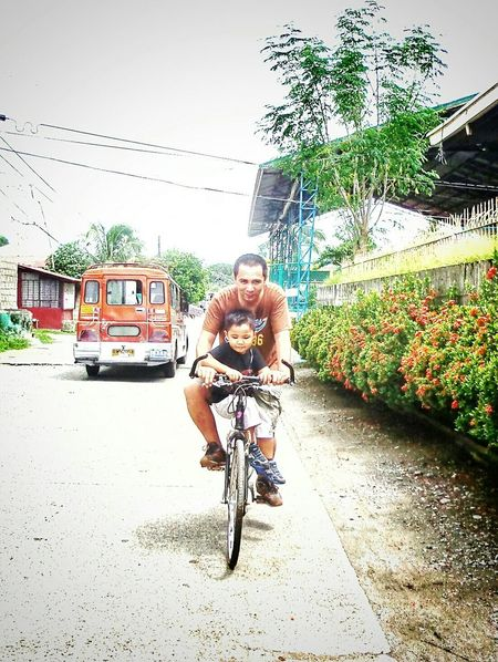 Summer Views Sunnyphilippines Fatherandson Hot Sunny Day Bicycle Bicyclebonding Love Simplesummer
