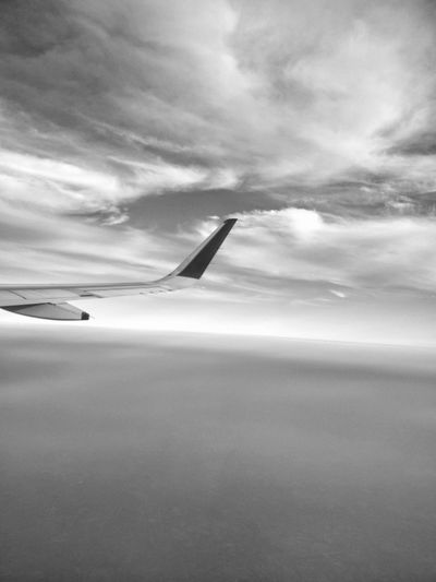 Bnw Monochrome Blackandwhite From A Airplane Window The Purist (no Edit, No Filter) Black And White Cloudporn Skyporn Sky Clouds Clouds And Sky Window View