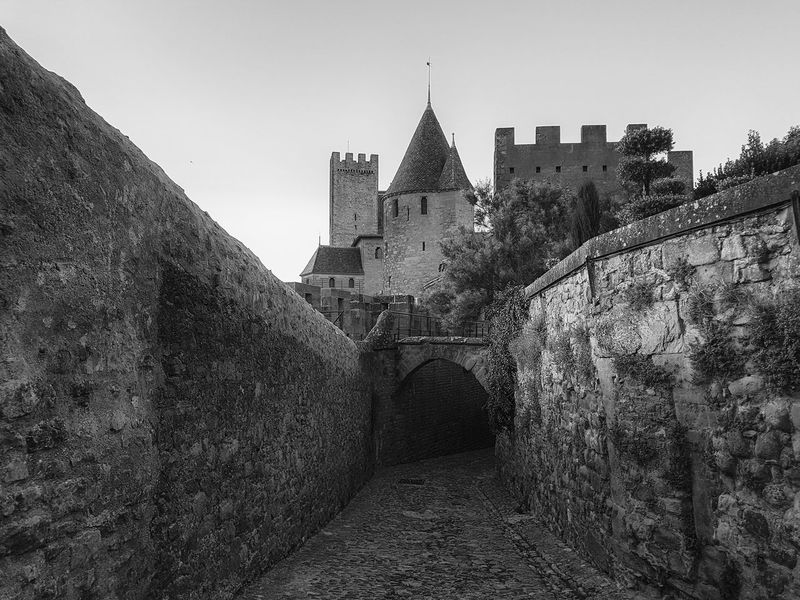 Carcassonne Carcassonne City MedievalTown Past Architecture Black And White Building Exterior Built Structure Castle Day History History Place Medieval Architecture Monochrome No People Outdoors Travel Destinations