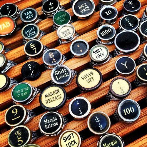 Recycled typewriter parts at Brisstyle Indie Markets Brisbane Art Craft Designer  Market
