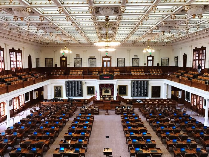 Congress, Austin Indoors  Science Large Group Of Objects Bookshelf Library Desk No People Architecture Domestic Room Auditorium Day House Of Parliament Texas House Of Representatives Austin Texas