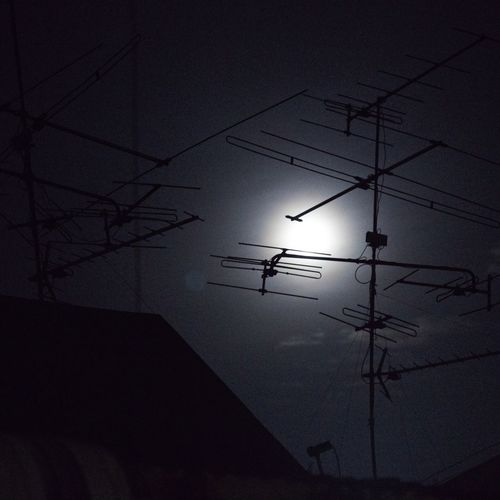 Silhouette Connection Electricity  Low Angle View Technology Moon No People Cable Power Line  Nature Sky Fuel And Power Generation Outdoors Electricity Pylon Animal Themes Bird Beauty In Nature Day
