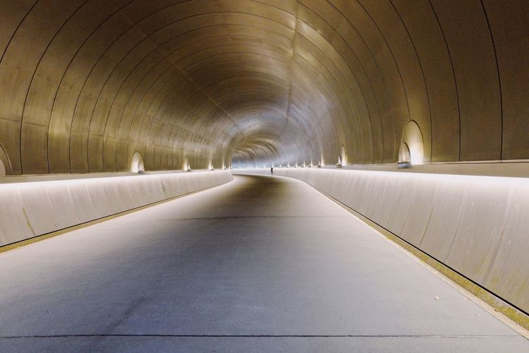 Diminishing Perspective Of Tunnel