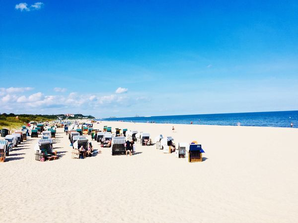 Strand auf Usedom EyeEm Selects Beach Land Sand Sea Sky Water Beauty In Nature Horizon Nature Real People Horizon Over Water Blue Group Of People Scenics - Nature Day Summer Holiday Large Group Of People Crowd Outdoors