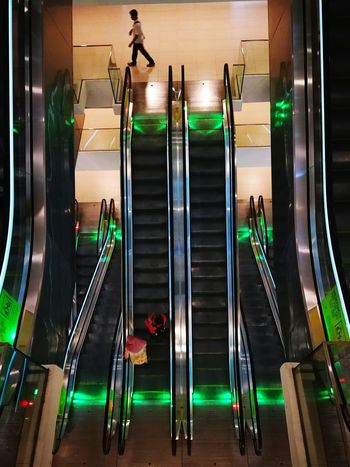 escalator Floor Escalators And Staircases Escalators And Steps Sport Gym Exercising Lifestyles City Indoors  Night Basement