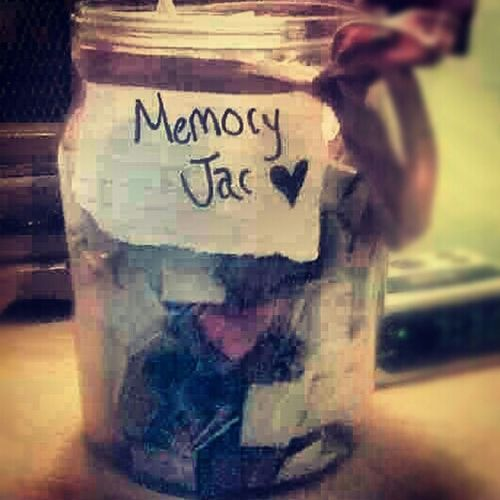 2012 Memory Jar. It's time ta see them 'Ol mormories ; read them and put them in the past 