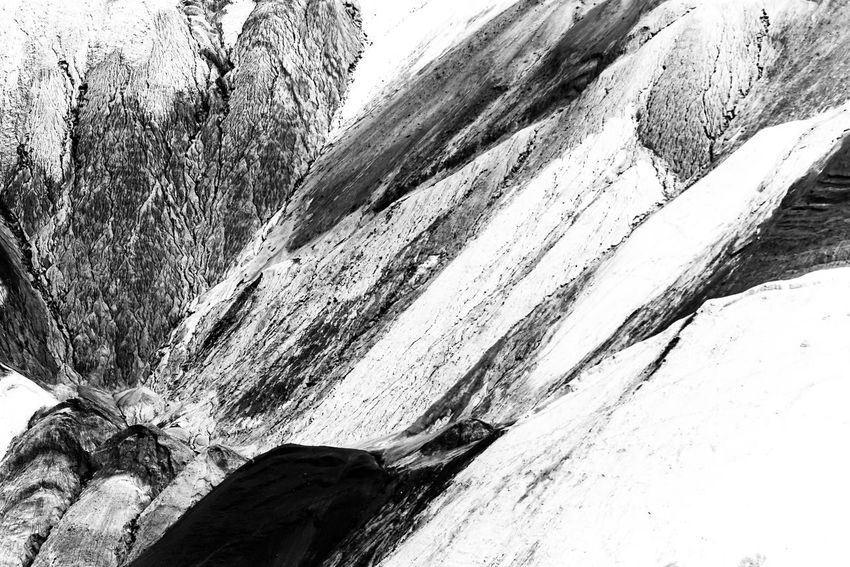 Braunkohle Braunkohletagebau Beauty In Nature Black And White Black And White Photography Close-up Coloured Earth Day Garzweiler High Contrast Mountain Nature No People Outdoors Physical Geography Textured  Tranquility
