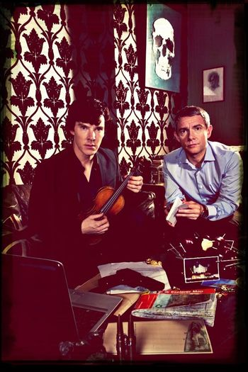My heroes. Sherlock Johnlock