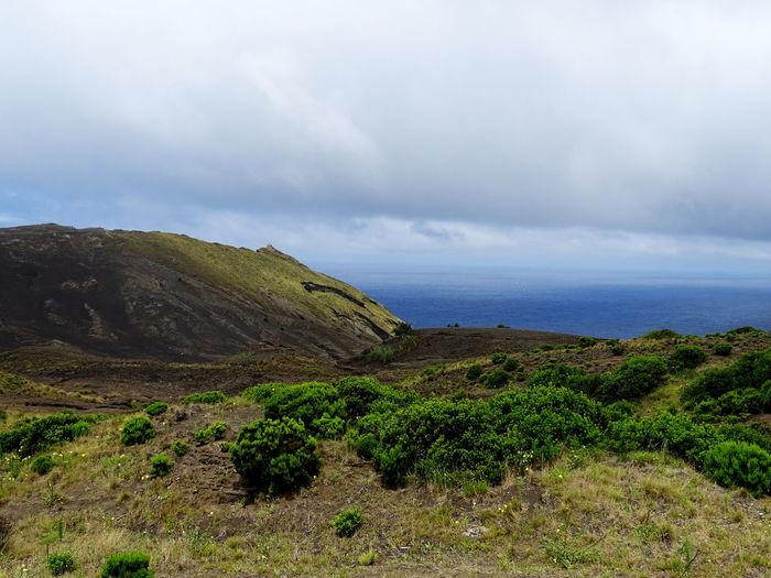 Landscape Mountain Sea Storm Cloud Volcano Sky Landscape Cloud - Sky Volcanic Landscape Dramatic Landscape