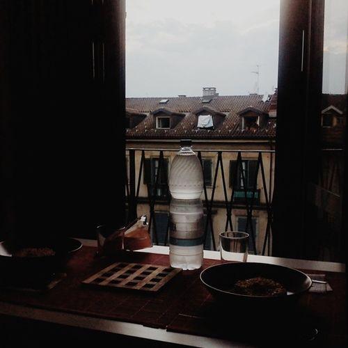La cena di Ponyo in preparazione con @photosif e il Tramonto Augustbreak2014