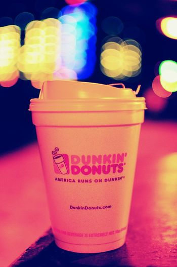 Fuel for the rat race... Early Morning Coffee America Runs On Dunkin Commuting Bokeh Bokeh Lights